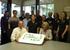 Photo of Lake campus leadership displaying their semster cake during their Welcome Week kickoff event.