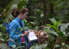 Photo of Wright State students Alexandra Zelles and Brittney Mitchell in Suriname.