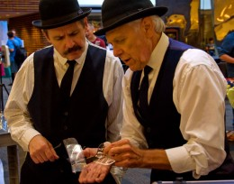 Photo of NASA Wright brothers impersonators Tom Benson and Roger Storm at Wright Brothers Day