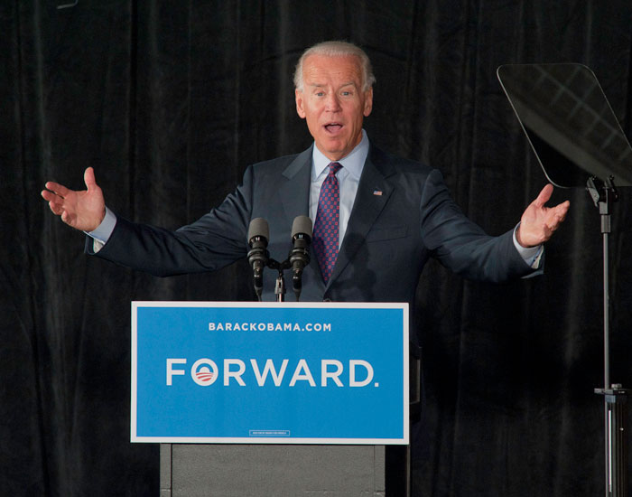 Photo of Joe Biden speaking at a podium