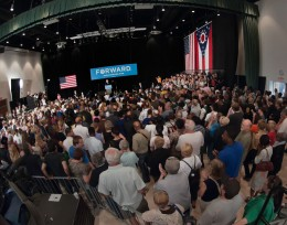 Photo of the croud in the Apollo Room