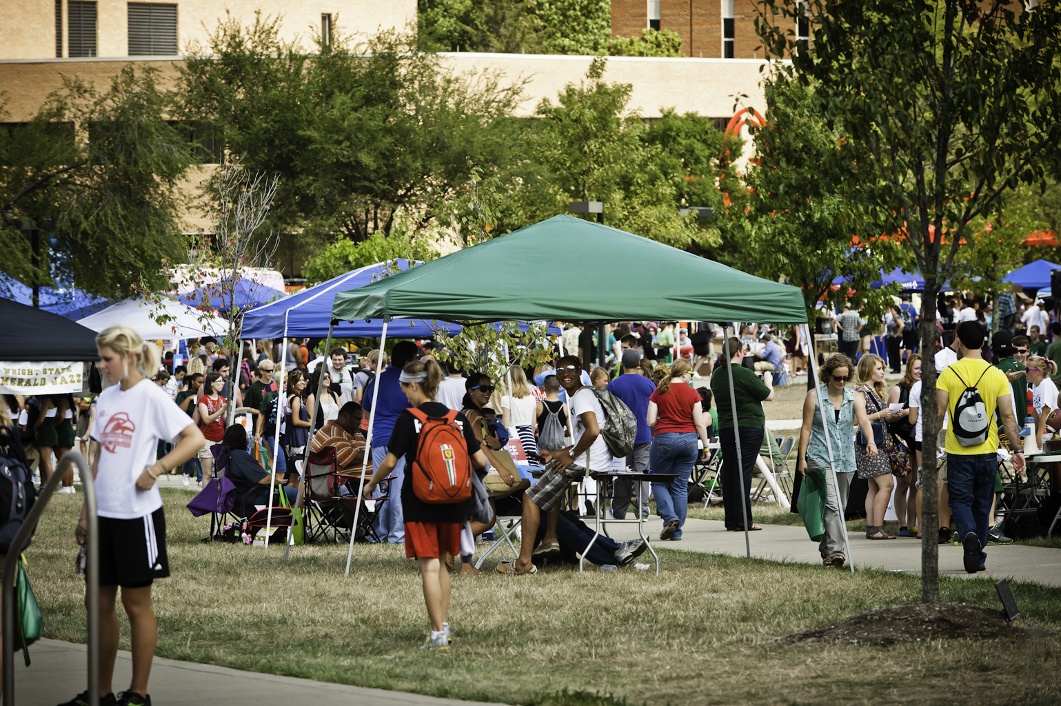 Students, staff, and faculty enjoyed food, fun, and friends at the annual Wright State Fall Fest. Student organizations, multiple departments, and various vendors participated in the Aug. 31 event.