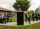 Photo of Julie Thorner speaking at a podium