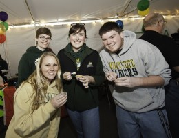 Photo of students sampling chili