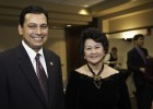 Photo of Ohio Congressman Steve Austria and AHNA Director Mai Nguyen.