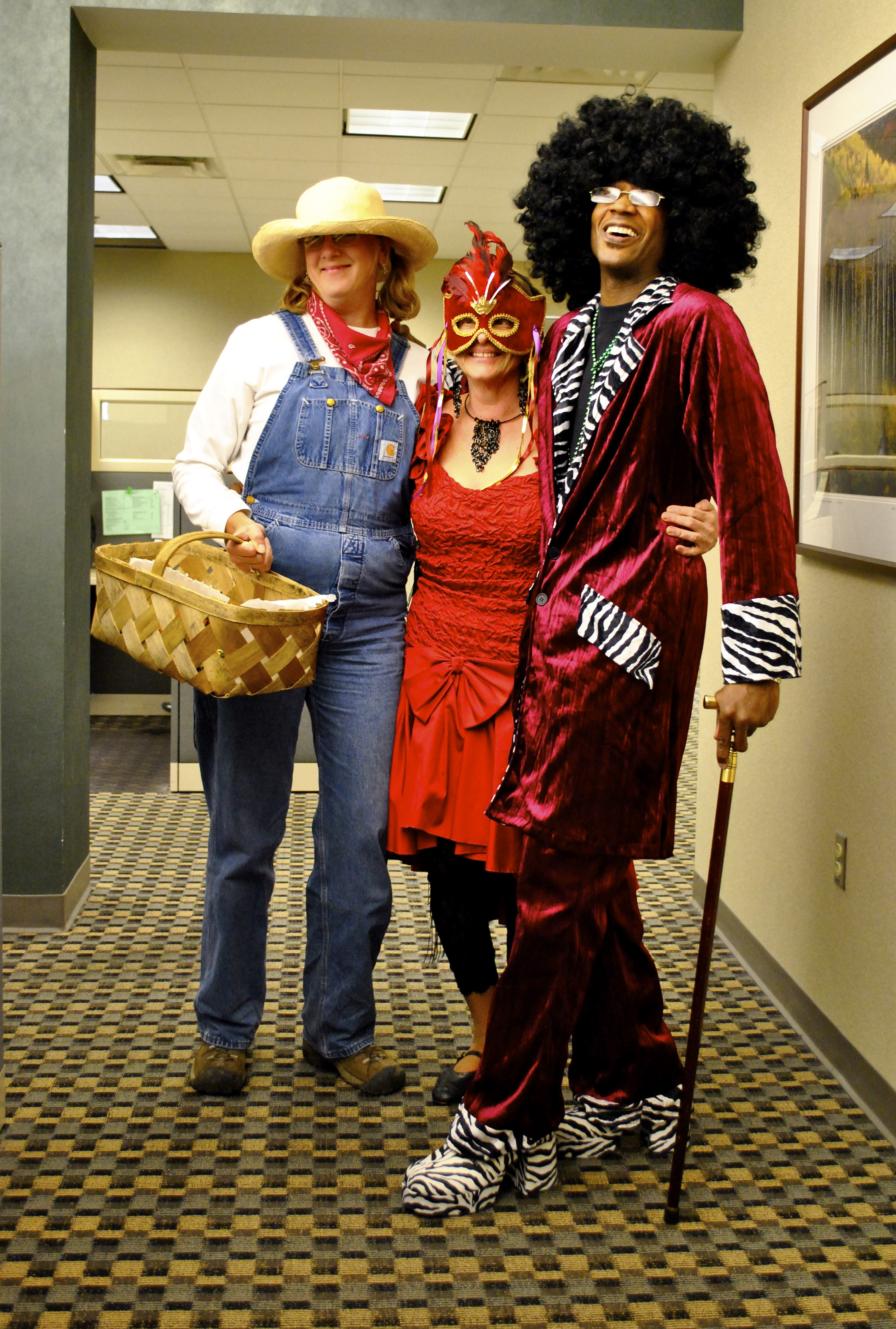 Photo of WSU employees dressed up for Halloween.