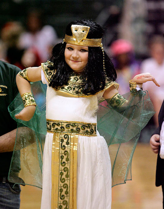 Photo of a girl dressed as Cleopatra at Howloween Hoopla 2011.