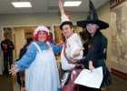 Photo of (L-R) Mia Honaker, Joey Gibbons and Linh Tang in costume at the 2011 Multicultural Halloween.