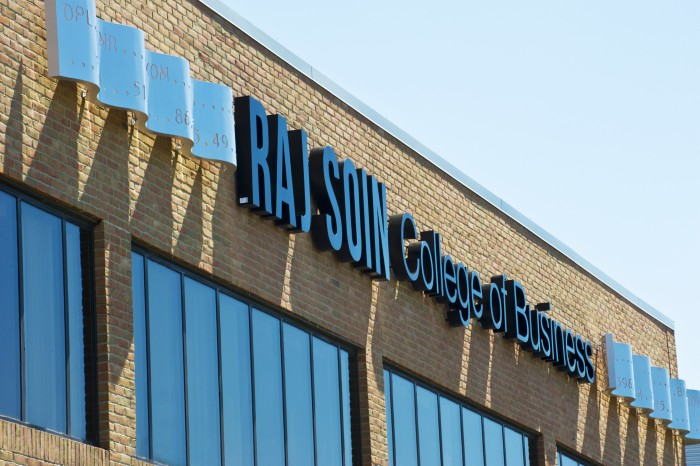 Wright State University's Raj Soin College of Business building