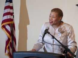 Photo of Kimberly Barrett, Wright State University's new Vice President—Multicultural Affairs and Community Engagement