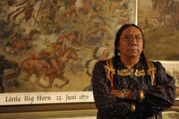 Photo of Ernie LaPointe, great-grandson of Sitting Bull, Hunkpapa Lakota chief
