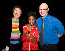 "Photo of Julia Reichert and Steve Bognar with Sheri ""Sparkle"" Williams"