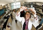 Photo of Wright State professor and researcher Kate Excoffon in a laboratory