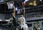 Reggie Arcenaux drives to the basket in Wright state's 69-53 win at home over Cleveland State.