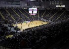 The blackout game crowd at the Wright State University Nutter Center.