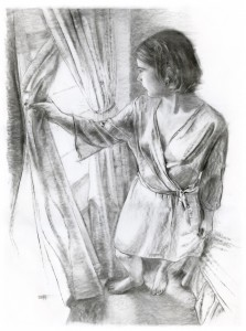 Her Name is Alice, Steven Hughes, 2011, charcoal