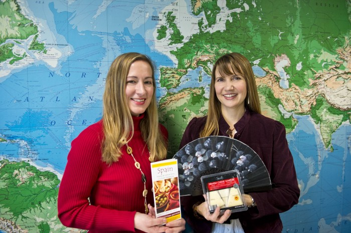 Photo of Spanish lecturers Jennifer Buckwalter (left) and Michelle Cipriano are leading a culinary, study-abroad trip to Spain in May.