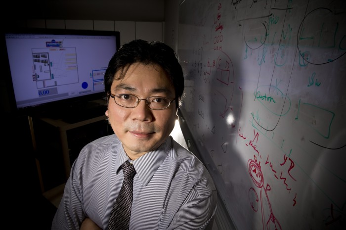 Photo of Xinhui Zhang, Wright State University associate professor of biomedical, industrial and human factors engineering