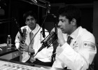 Avash Kalra and Lakshman Swamy while taping an episode of Radio Rounds.