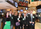 The Wright State Finance Club on the floor of the New York Stock Exchange.