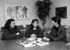 Since 1993, the Women's Center has served campus and the community. Pictured here are two students with Paulette Olson, Ph.D., director of ther Women's Center.