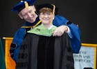 Four-star Air Force General Janet Wolfenbarger was given the honorary doctorate.