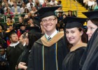 Wright State staff members Seth Bauguess and Cory MacPherson were two of many university employees who recieved degrees.