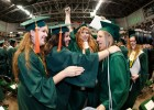 There was no shortage of smiles and hugs at spring commencement.