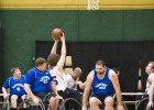 The Ohio Roling Hoopsters (white) play another regional wheelchair basketball team in 2011 in the Wright State University Nutter Center McLin Gym.