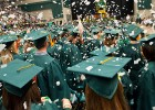 More than 2,000 students graduated at Wright State&#039;s 77th commencement ceremony on April 27 in the Wright State Nutter Center.