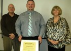 (L-R) Engineering lecturer Dennis Hance, Student Employee of the Year Kris Hyde and Lake Campus Dean Bonnie Mathies.
