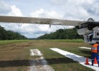 This was the airport the class used when they landed in Peru—literally a single, grassy runway carved out of the jungle.