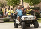 Over 90 golf carts were used to move in about 1,200 new students.