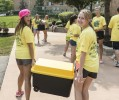 The best way to move you stuff into your dorm is to get some student help and make some new friends too.