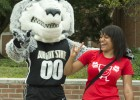 Rowdy and new student Gloria Lawson.