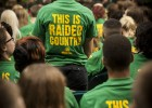 Green and gold as far as the eye could see at 2013 Freshman Convocation.