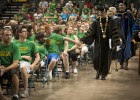 Wright State University President David R. Hopkins led the procession at Freshman Convocation.