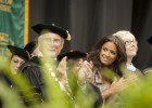 President Hopkins and featured speaker Rocsi Diaz.