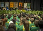 The class of 2017, over 2000 strong, listened as Diaz shared her best college advice.