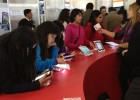 The U.S. Embassy put a number of tablet devices on display for book fair attendees to try.