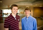 Alex Dugas (left) and Blake Dugas (right) are two of the 85 valedictorians and salutatorians in the Wright State freshman class.