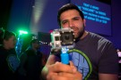 Student Government President Sukhman Singh made good use of a GoPro camera at the event.