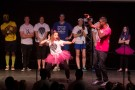 The pink team brought down the house during their talent portion of the Mr. and Mrs. Raiderthon competion.
