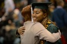 There was no shortage of smiles and hugs at Fall Commencement.