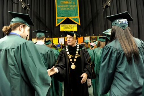 Wright State University President David R. Hopkins congratulated graduates.