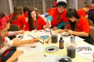High school students learned about Chinese calligraphy during a workshop at  Chinese Immersion Day on Jan. 30.