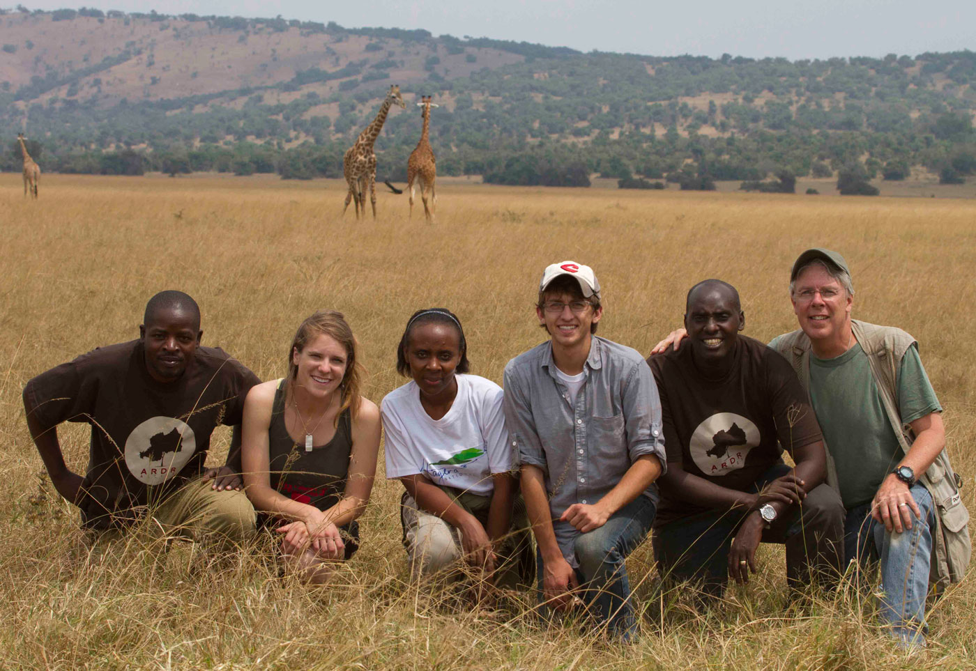 ARDR documentary team in Rwanda