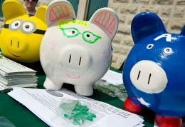 Fund4WrightState piggy banks