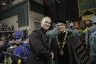 Wright State President David R. Hopkins told graduates that the future belongs to those who have a college education.