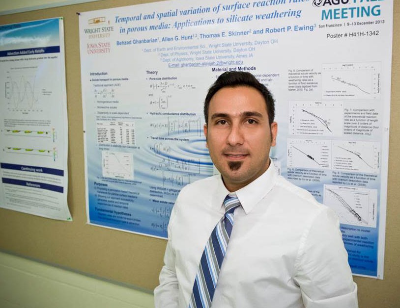 Wright State grad student Behzad Ghanbarian